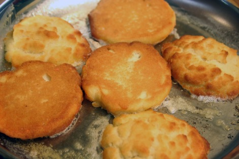 Gluten-Free Coconut Flour Biscuits Toasting