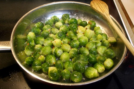 Sprouts in Skillet