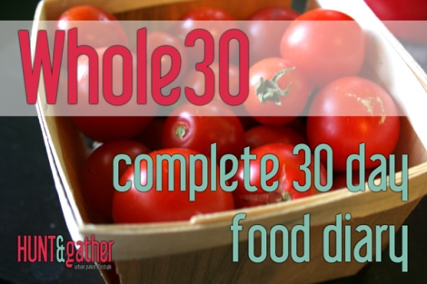 Whole30 - 30 day Food Diary - Paleo Meal Ideas