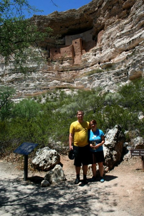 Me and Allan at Montezuma's Castle; holy cow, Allan has lost a lot of weight since then!