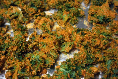 Kale Chips - Uncooked