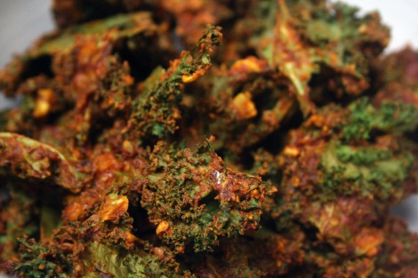 Cheesy Chipotle Kale Chips | Vegan, Paleo