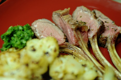 Rack of Lamb with Mint Chutney