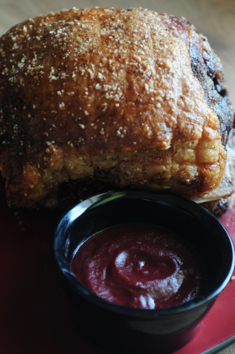 Crispy Slow-Roasted Pork Shoulder with Spicy Cherry BBQ Sauce